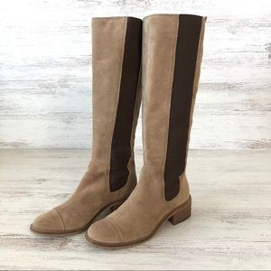 BCBGENERATION Judie Leather Stretch Knee Boots